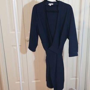 NY&co Basic Navy Blue Wrap Dress